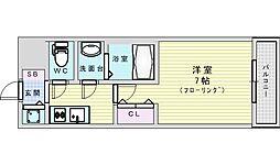 Osaka Metro御堂筋線 西中島南方駅 徒歩4分の賃貸マンション 10階1Kの間取り