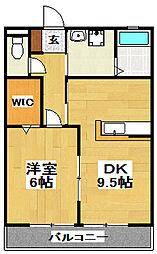 クレセントI[2階]の間取り