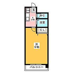 デジュール箱崎[8階]の間取り
