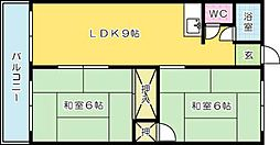 白銀マンション[304号室]の間取り