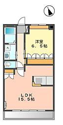 静岡県静岡市葵区羽鳥2丁目の賃貸マンションの間取り