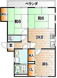 フォーレスト737[2階]の間取り