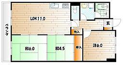 石田スカイマンション[6階]の間取り