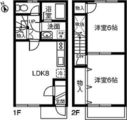 [テラスハウス] 愛知県小牧市安田町 の賃貸【/】の間取り