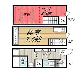 [テラスハウス] 千葉県千葉市中央区港町 の賃貸【/】の間取り