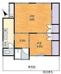 春沢アパート[1階]の間取り