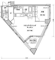 プラチナコート南麻布[2階]の間取り