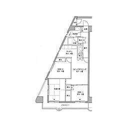 メゾン・デ・ヴィレ[8階]の間取り