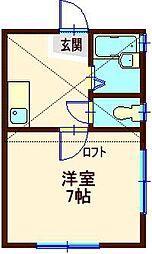 ウィステリア六角橋II[2階]の間取り