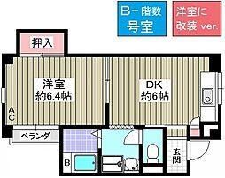 コーポ千島[B-2号室]の間取り