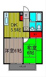 プラシャンティ−・ニラヤム・ノロセ[1階]の間取り