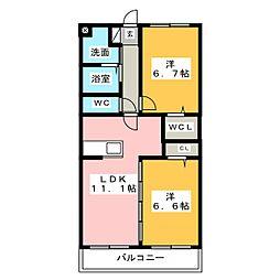 サンシャイン ユタカII[1階]の間取り