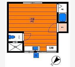 中台荘A棟[1階]の間取り