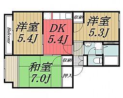 千葉県四街道市下志津新田の賃貸アパートの間取り