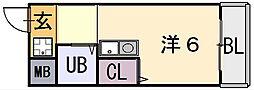 シティーハイツ弥刀[1階]の間取り