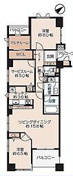 クレッセント新横浜ツインズウエスト[801号室]の間取り
