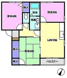 ファミリーコーポ南守谷B棟[2階]の間取り