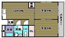 キューデンス21A棟[3階]の間取り