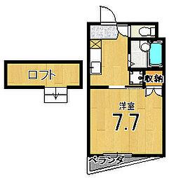メゾン徳大寺[401号室]の間取り