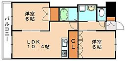 モントレゾール[2階]の間取り