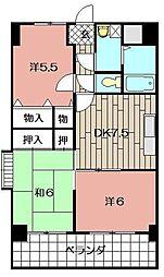 小文字幹線ビル[706号室]の間取り