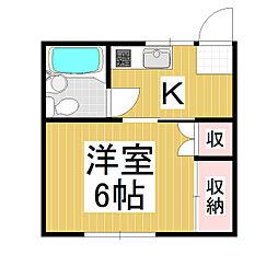 コーポアップル[2階]の間取り