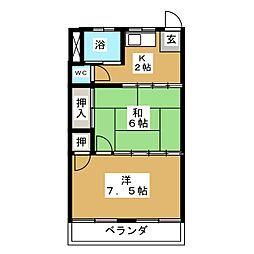 第一コーポ久栄[2階]の間取り