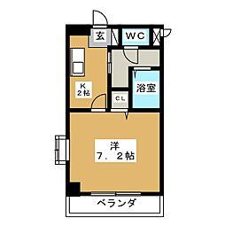CRECER新栄[2階]の間取り