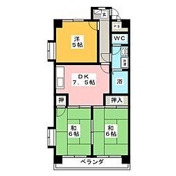 マンション渋谷II[4階]の間取り