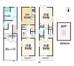 京阪本線 古川橋駅 徒歩20分 3DKの間取り