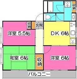 煉瓦館76[1階]の間取り