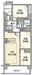グランフォーレ横浜鴨居 2階3LDKの間取り