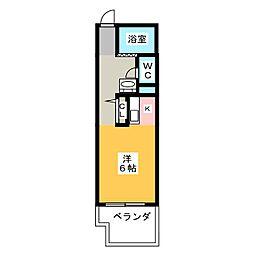 第一ヤマケンビル[4階]の間取り