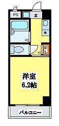 大阪府東大阪市中野1丁目の賃貸マンションの間取り