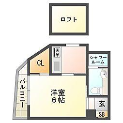 兵庫県神戸市垂水区天ノ下町の賃貸マンションの間取り