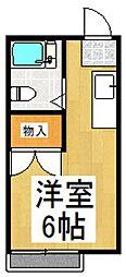 山本レジデンスE棟[2階]の間取り