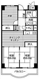 ビレッジハウス栃木日ノ出タワー1号棟[1階]の間取り
