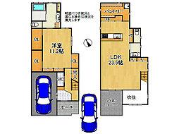 堺市東区日置荘西町4丁 中古一戸建て 1SLDKの間取り