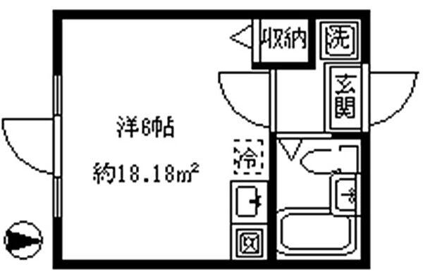 インペリアル東新宿[306号室]の間取り