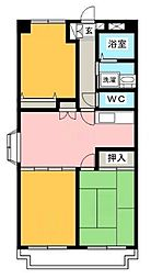 東京都八王子市中野上町4丁目の賃貸マンションの間取り