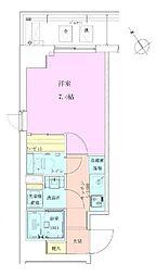 恵比寿レジデンス壱番館 7階1Kの間取り