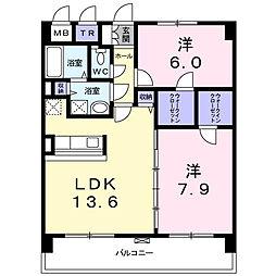 神奈川県相模原市南区上鶴間2丁目の賃貸マンションの間取り