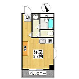 東京都世田谷区喜多見7丁目の賃貸マンションの間取り