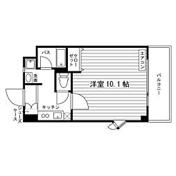 フィスム名駅[2階]の間取り