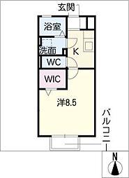 メルベーユ・メゾン[1階]の間取り