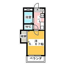 アバンテ曲金 I[1階]の間取り