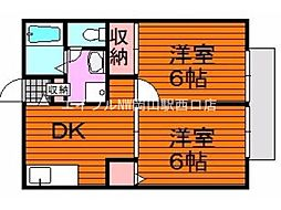 コーポラスYOU C棟[2階]の間取り