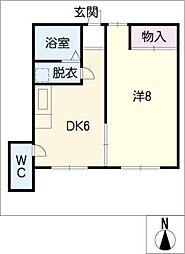 ユタカファイブ[1階]の間取り