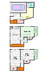 [一戸建] 大阪府茨木市北春日丘1丁目 の賃貸【大阪府 / 茨木市】の間取り