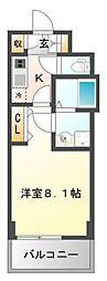 レジディア江坂II[9階]の間取り